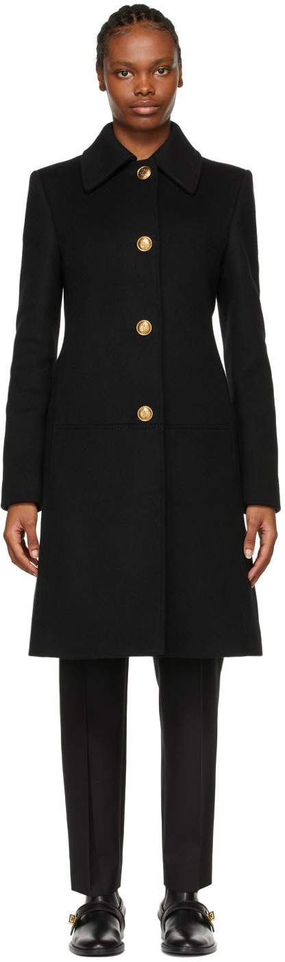 Givenchy 黑色 4G 链带大衣