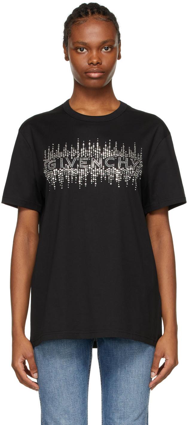 Givenchy ブラック ロゴ Masculine T シャツ