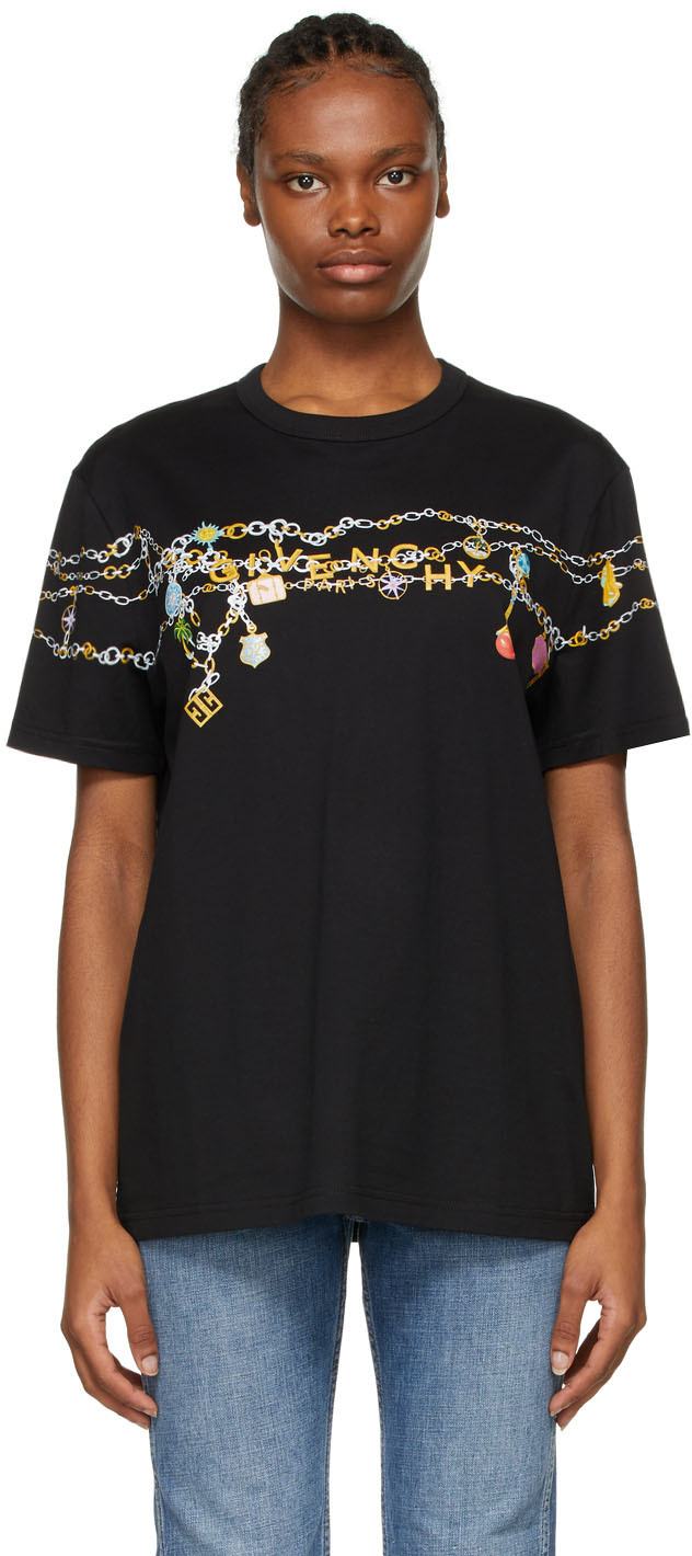 Givenchy ブラック Charms Masculine T シャツ