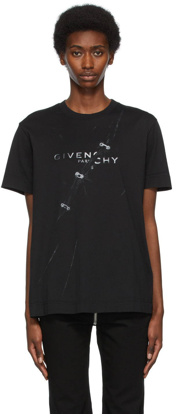 Givenchy ブラック Trompe L'œil T シャツ
