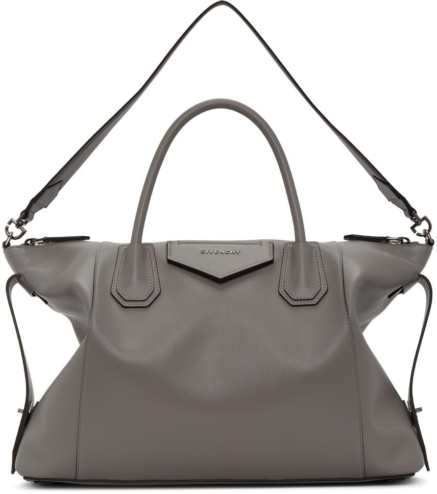 Grey Soft Medium Antigona Bag