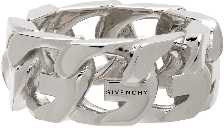 Silver G Chain Ring