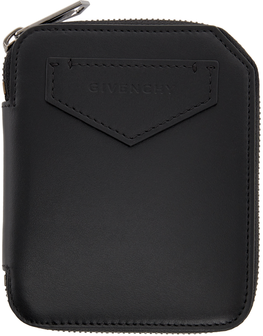 Givenchy Black Medium Antigona Zip Wallet