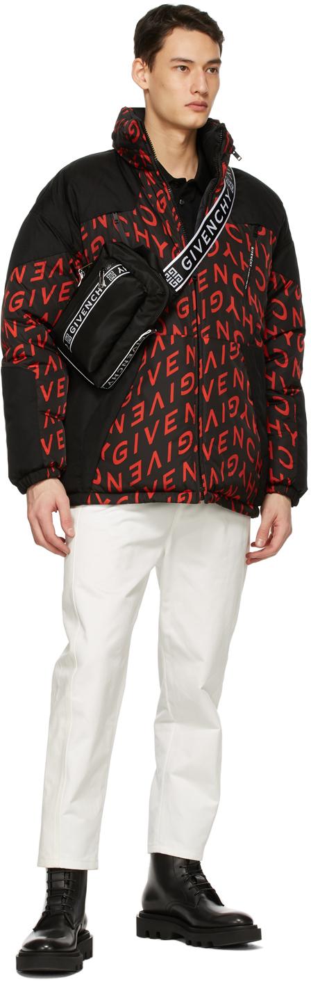 Givenchy リバーシブル ブラック & レッド Refracted パファー コート