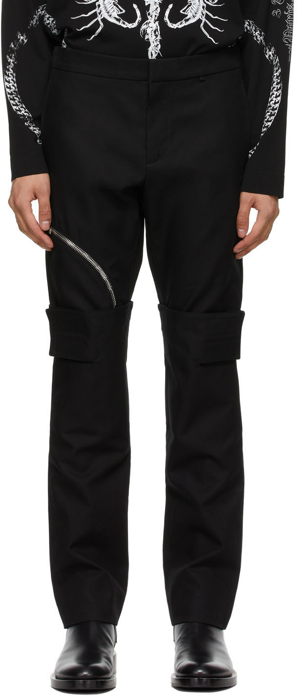 Black Layered Effect Trousers