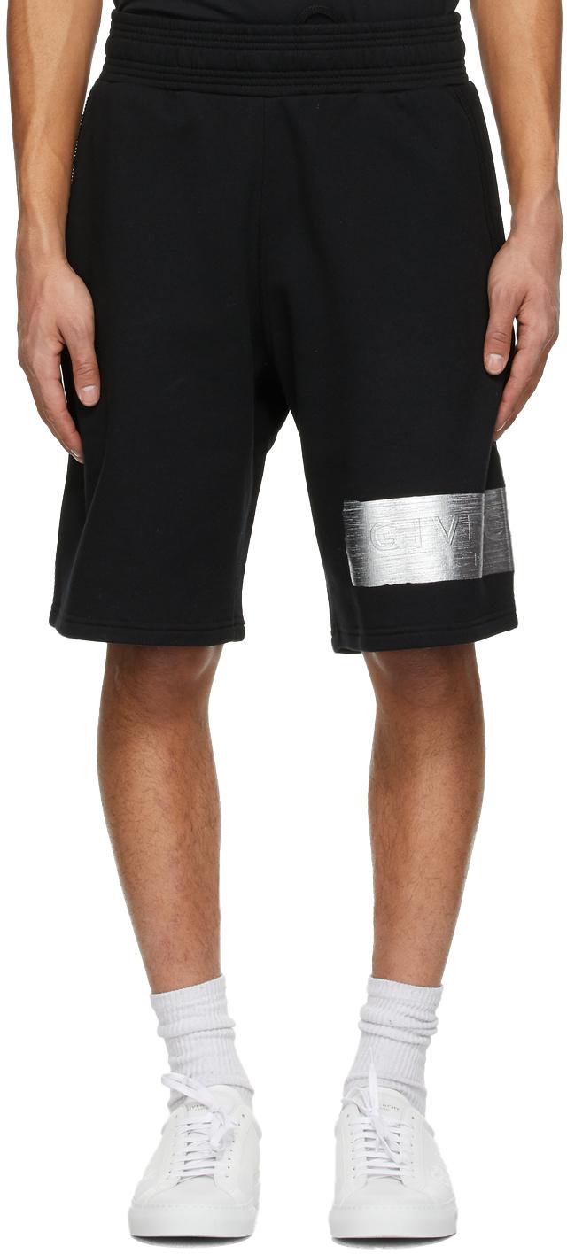 Black Logo Latex Band Shorts