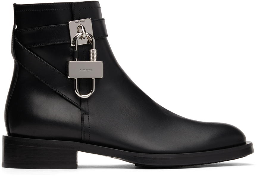 Black Padlock Boots