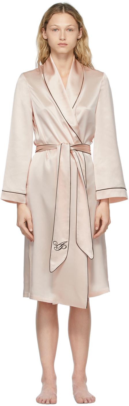 Pink Silk Classic PJ Robe