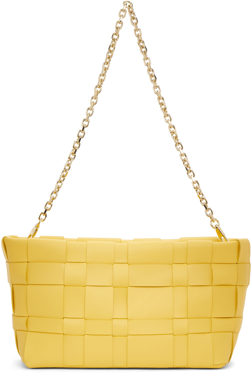 31 Phillip Lim Yellow Odita Lattice Pouch 211283F045066