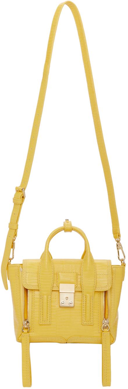 31 Phillip Lim Yellow Mini Pashli Satchel 211283F047001