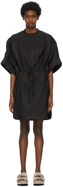 31 Phillip Lim Black Knotted Sleeve Dress 211283F054033