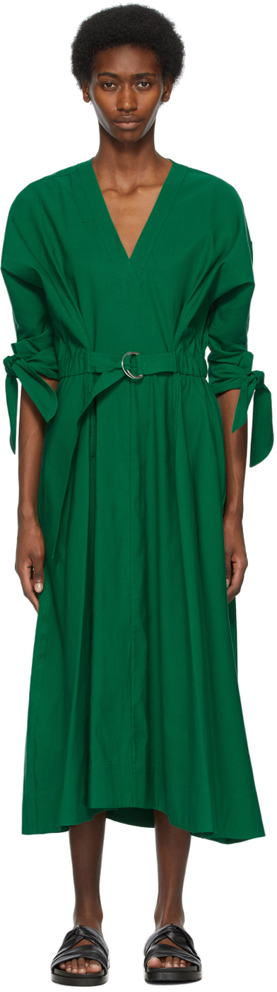 31 Phillip Lim Green Belted Mid Length Dress 211283F054035