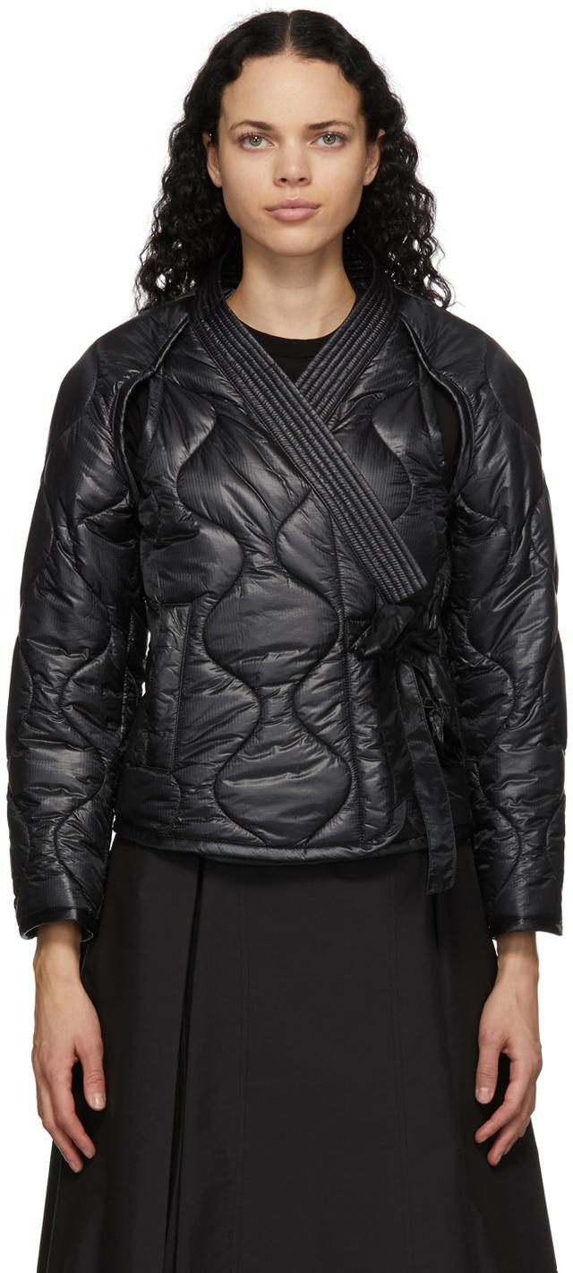 31 Phillip Lim Black Nylon Utility Kimono Jacket 211283F063075