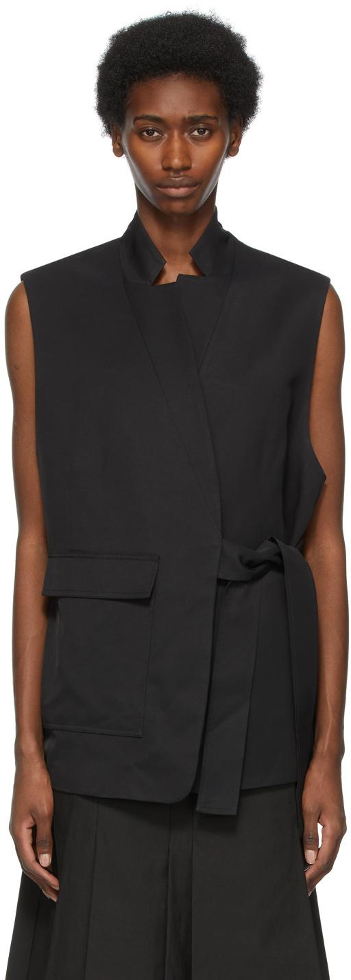 31 Phillip Lim Black Tie Vest 211283F068079