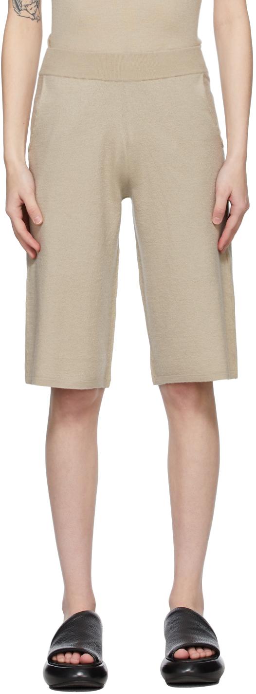 Beige Cashmere Adi Shorts