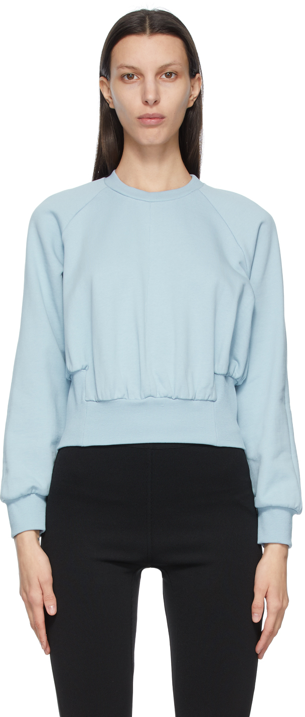31 Phillip Lim Blue Raglan Sleeve Sweatshirt 211283F096020