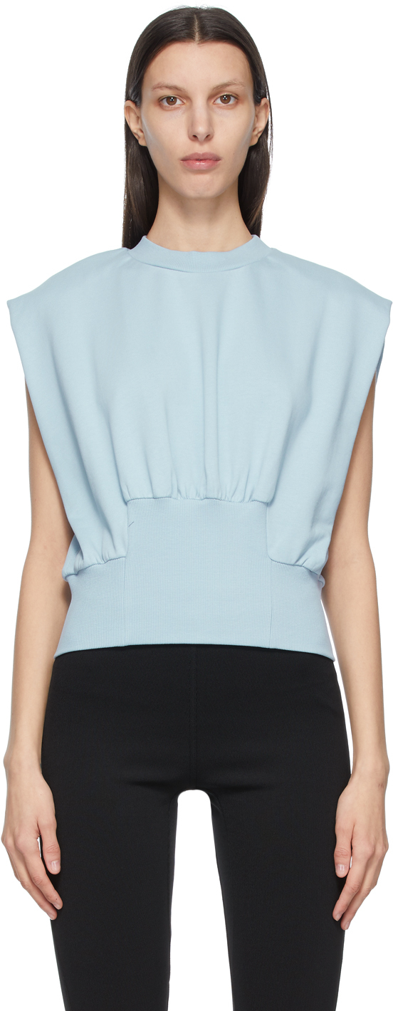 31 Phillip Lim Blue French Terry Tank Top 211283F096024