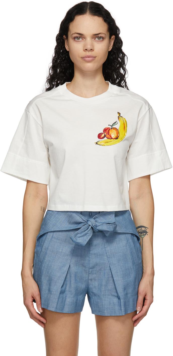 31 Phillip Lim Off White Banana T Shirt 211283F110024