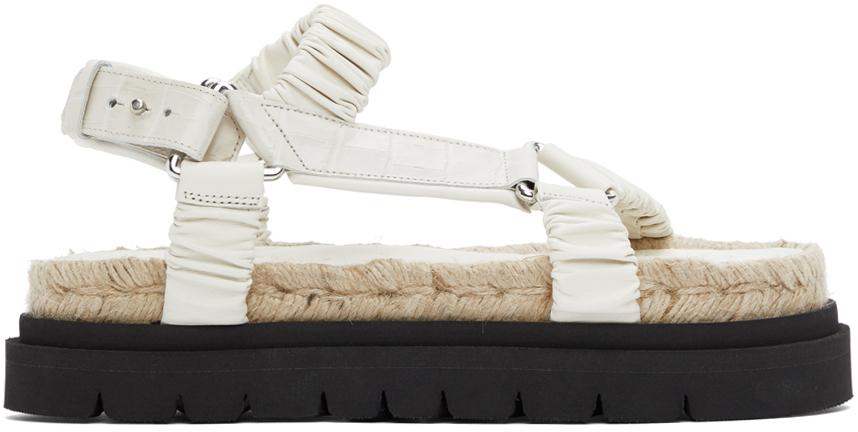 31 Phillip Lim Off White Noa Platform Espadrille Sandals 211283F124001