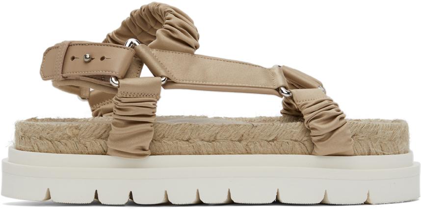 31 Phillip Lim Pink Noa Platform Espadrille Sandals 211283F124007