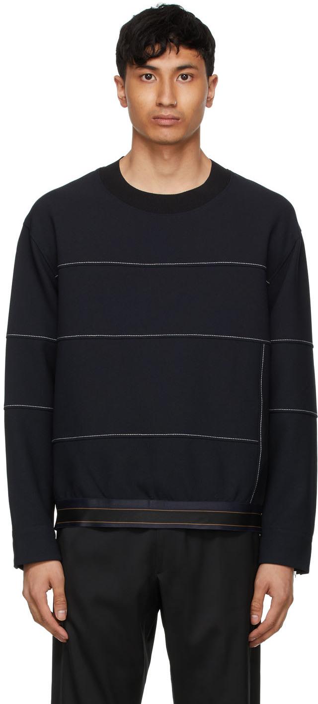 31 Phillip Lim Navy Crewneck Sweatshirt 211283M204002