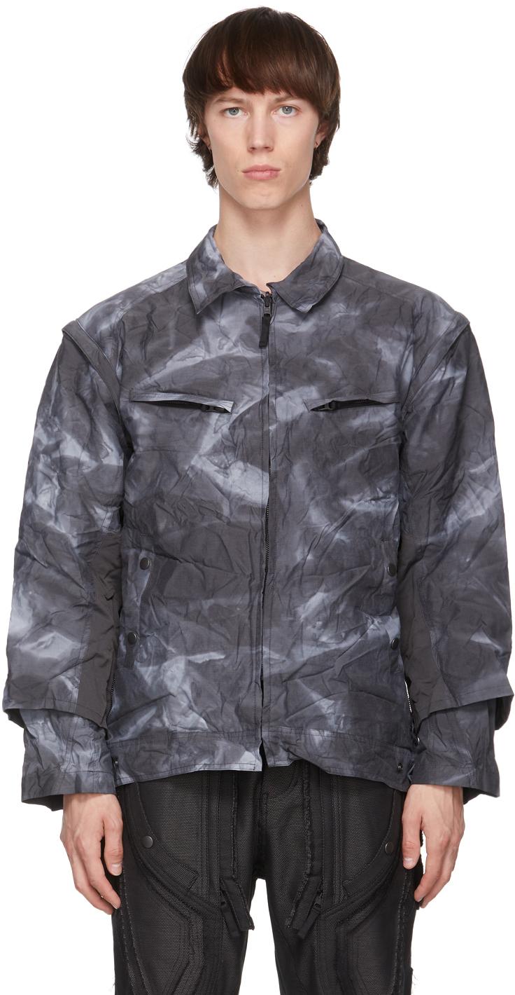Grey Wrinkle Zip Jacket