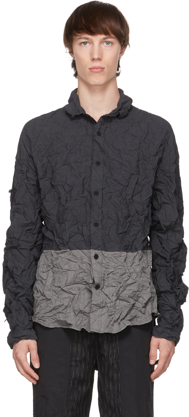 Grey Wrinkled Shirt