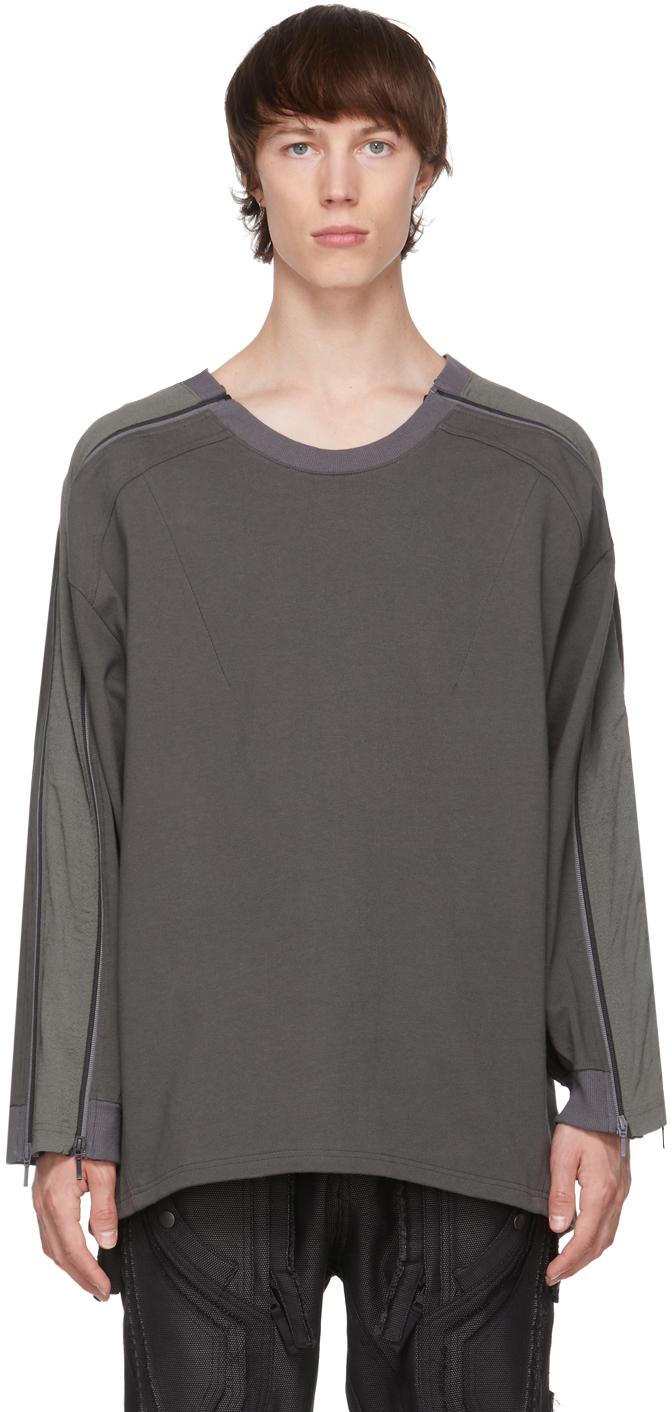 Green Zip Panel Sweatshirt
