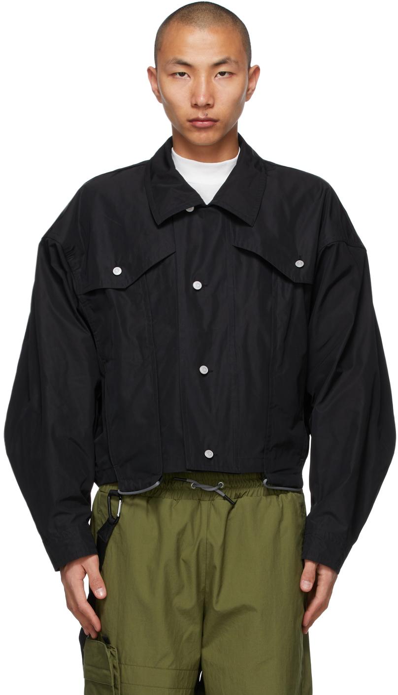 AA Spectrum Black Trucker Jacket 211285M180001