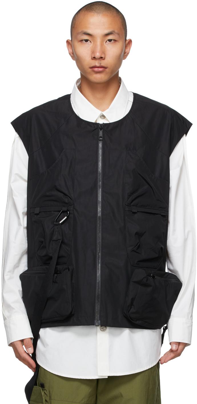 AA Spectrum Black Shoulder Utility Vest 211285M185013