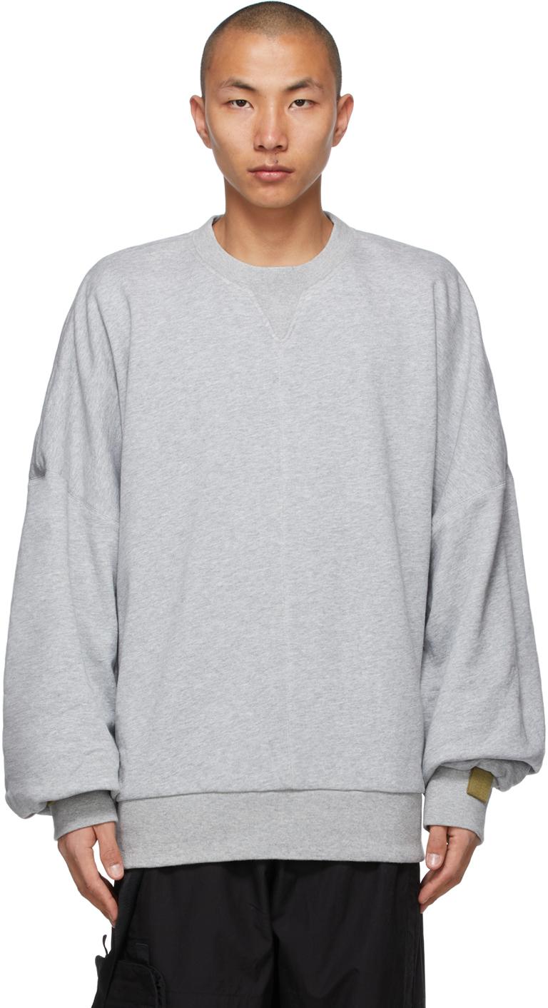 A. A. Spectrum Grey Collage Sweatshirt