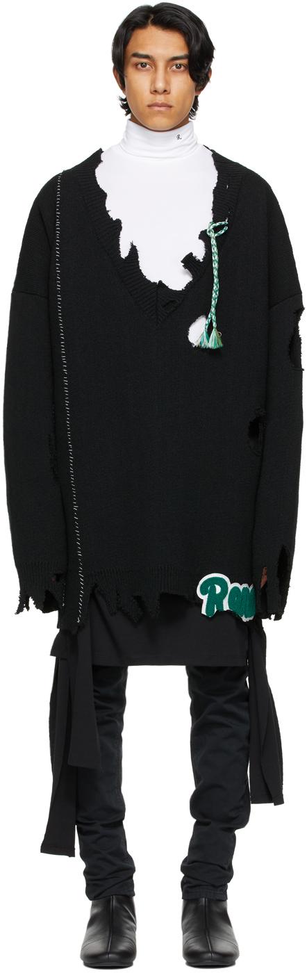 Black Oversized Destroyed 'Rena' Sweater