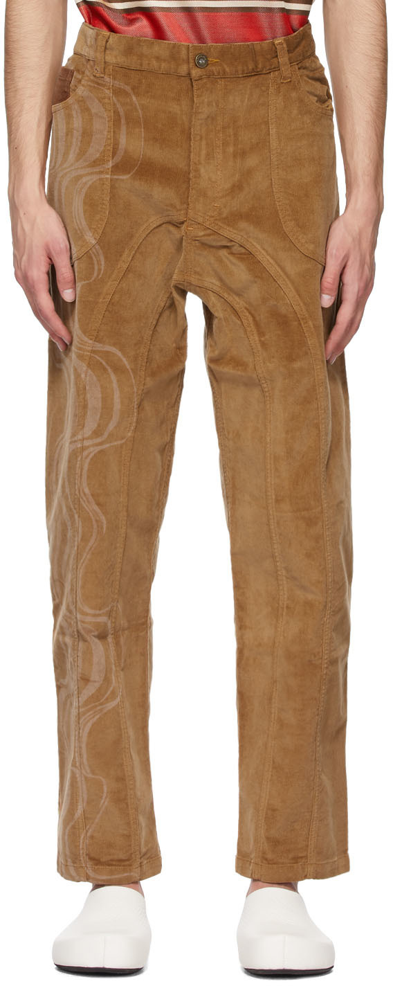 SSENSE Exclusive Brown Corduroy Joy Trousers