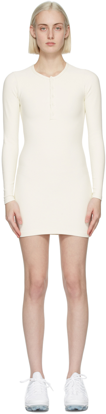 SSENSE Exclusive Off-White Thermal Henley Dress