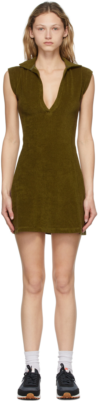 SSENSE Exclusive Green Terry Coco Tennis Dress