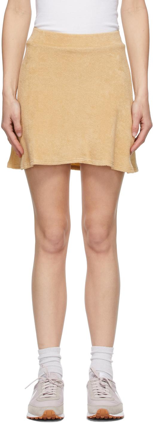 Khaki Terry Tennis Miniskirt