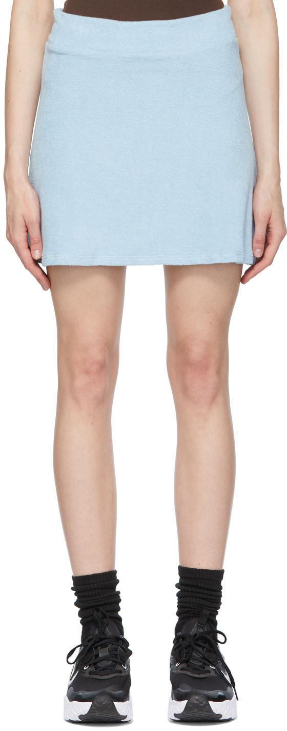 Blue Terry Tennis Miniskirt