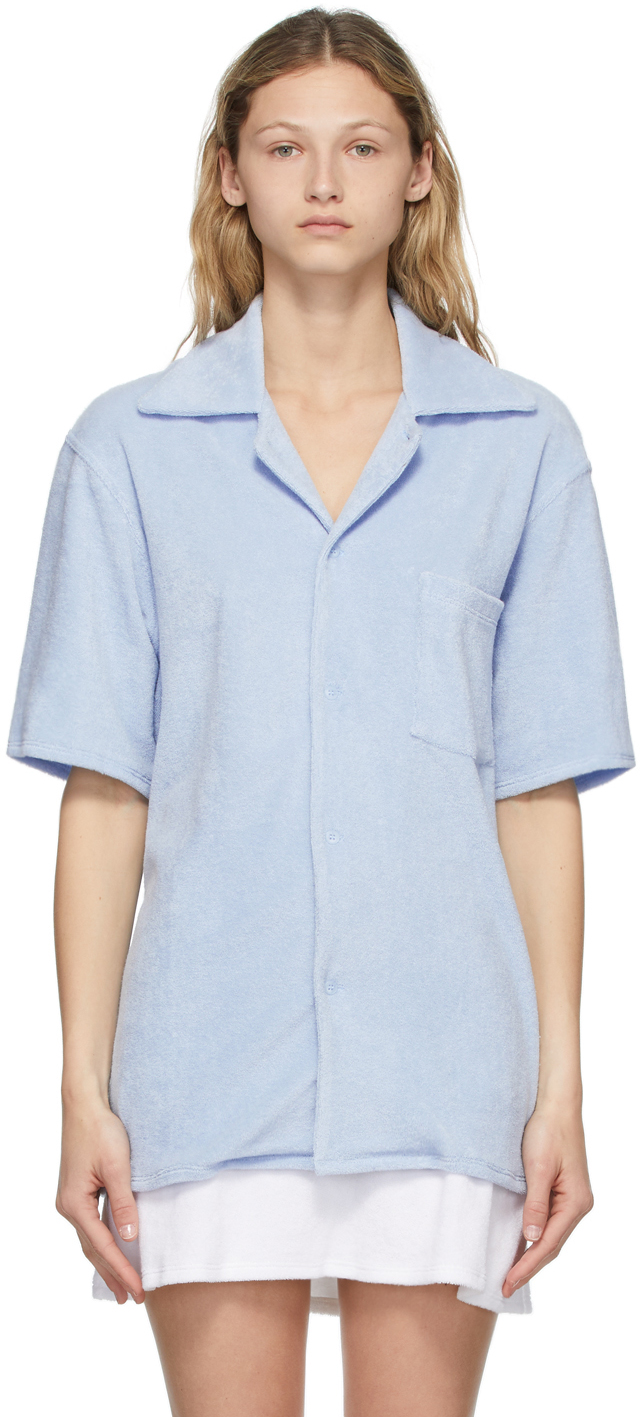 Blue Terry Tommy Bowling Shirt