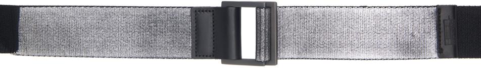 132 5 ISSEY MIYAKE Silver Standard Belt 211302M131010