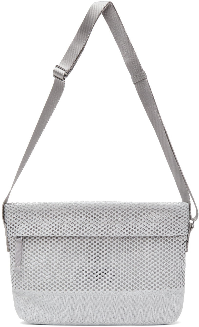 132 5 ISSEY MIYAKE Grey Kago Messenger Bag 211302M170029
