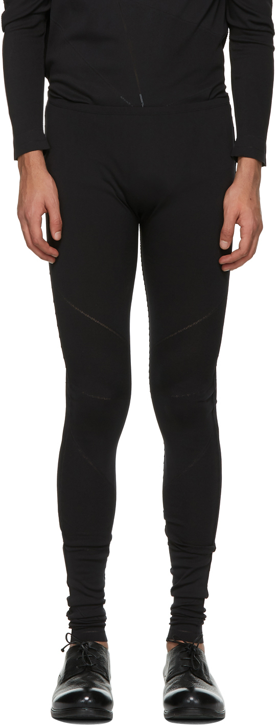 132 5 ISSEY MIYAKE Black A POC Legging Sweatpants 211302M190007
