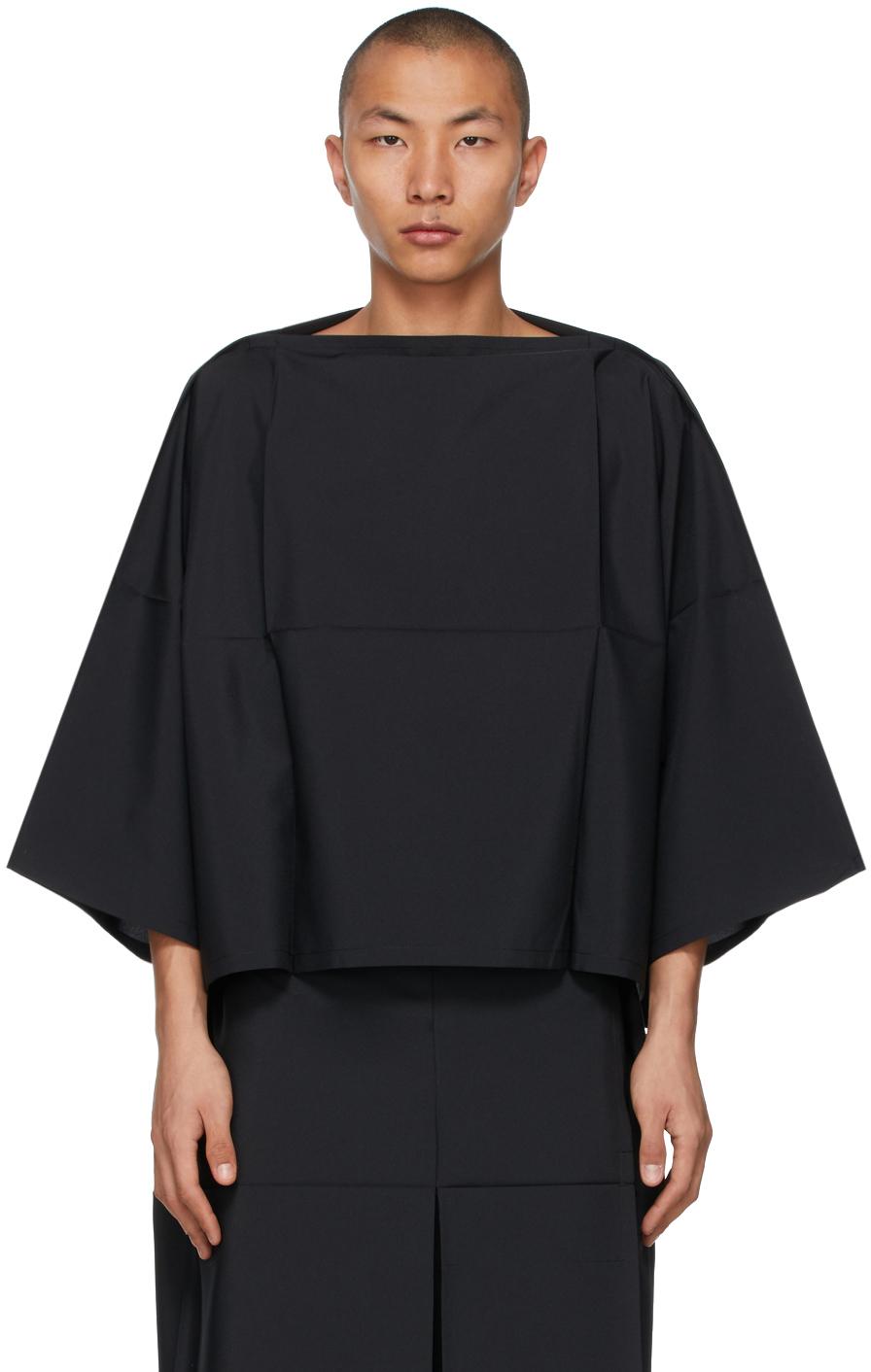 132 5 ISSEY MIYAKE Black Fold Square Sweater 211302M201023