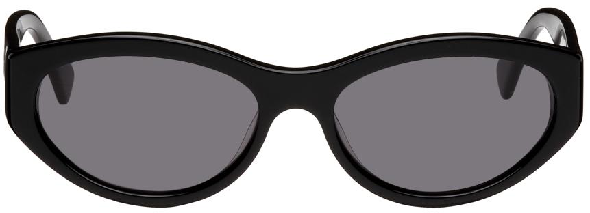 Black Cat-Eye Tonia Opaque Sunglasses