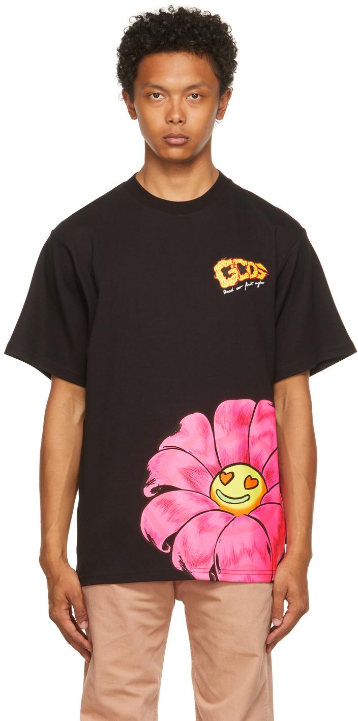 Black Printed Regular T-Shirt