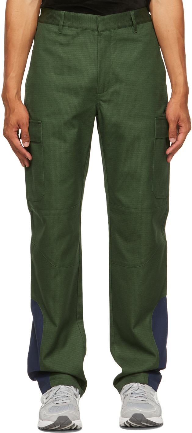 Green Ripstop DF Processing Patch Cargo Pants