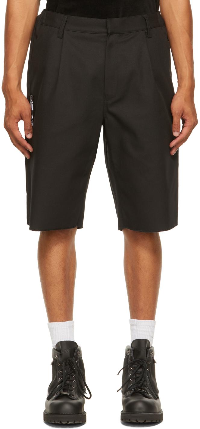 Black Klopman Ring Patch Shorts
