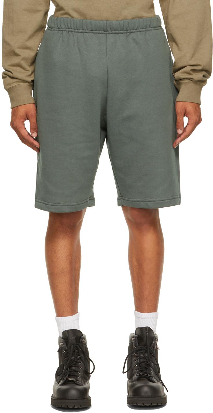 Green Fleece Factory Shorts