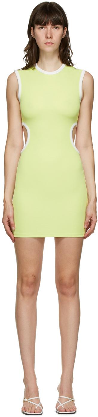 SSENSE Exclusive Green & White Negative Space Dress