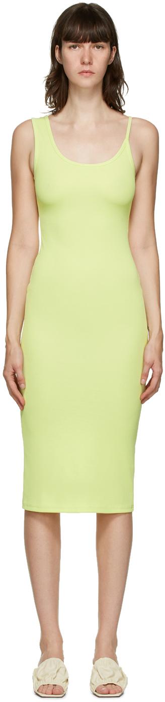 SSENSE Exclusive Green Asymmetric Strap Midi Dress
