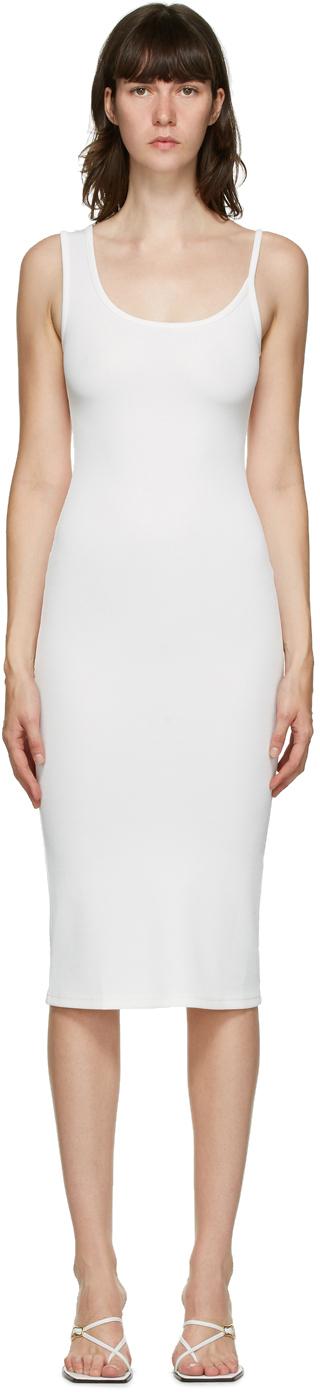 SSENSE Exclusive White Asymmetric Strap Midi Dress